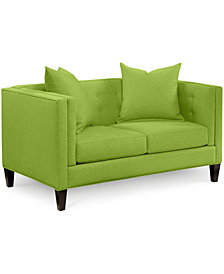 "Braylei 61"" Loveseat with 2 Toss Pillows - Custom Colors, Created for Macy's"