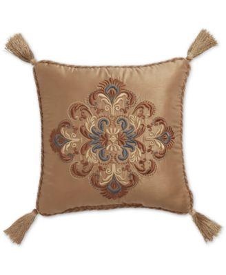 """CLOSEOUT! Cadeau 16"""" Square Decorative Pillow"""