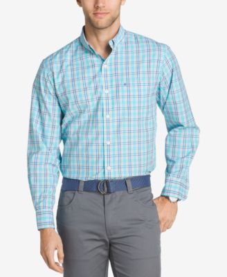 Image of IZOD Men's Saltwater Breeze Performance Plaid Shirt