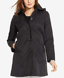 Plus Size Hooded Trench Coat, Created for Macy's