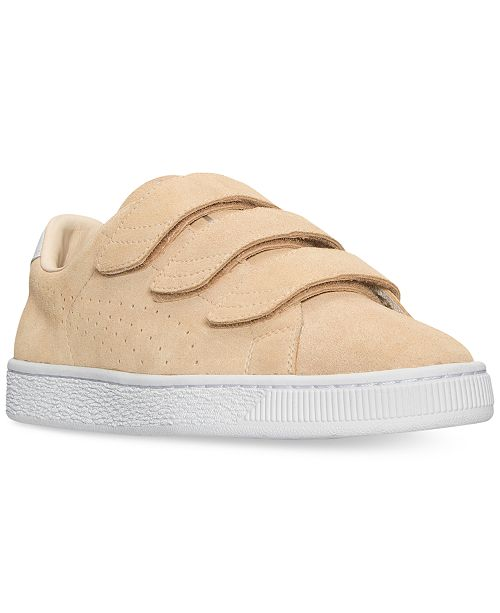 83fa6260909 Puma Men s Basket Classic Strap Casual Sneakers from Finish Line ...