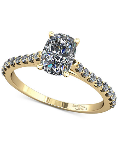 Diamond Cathedral Mount Setting (1/5 ct. t.w.) in 14k Gold