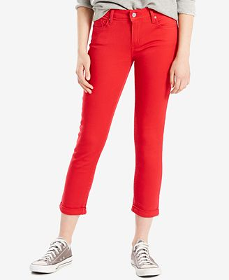 Levi's® Mid-Rise Cropped Skinny Jeans