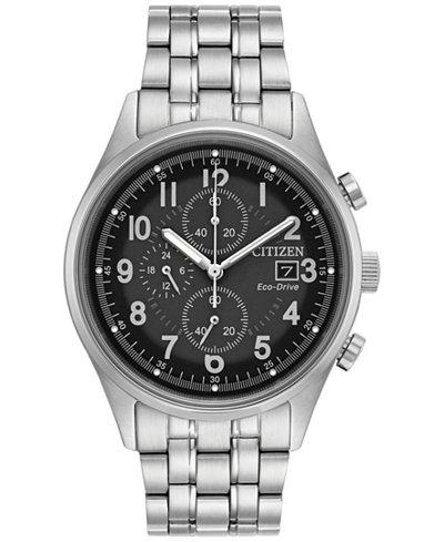 Citizen Men's Eco-Drive Chronograph Stainless Steel Bracelet Watch 42mm CA0620-59H