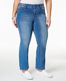 Hydraulic Plus Size Emma Blue Wash Straight Leg Jeans