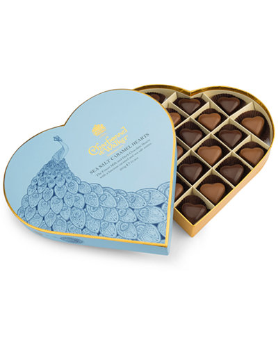 Charbonnel et Walker Milk & Dark Sea Salt Caramel Chocolates Heart Box