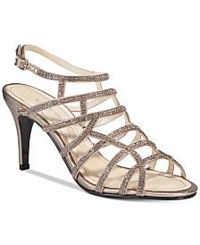 Caparros Harmonica Embellished Caged Evening Sandals