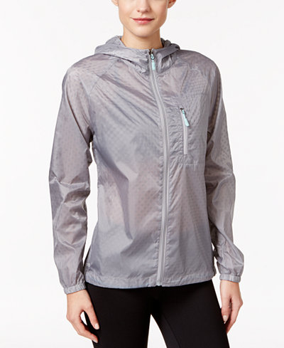 Ideology Hooded Rain Jacket, Created for Macy's - Jackets - Women ...