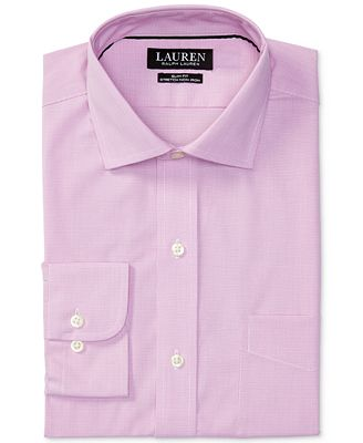 Lauren Ralph Lauren Men's Estate Slim-Fit Stretch Pink Dress Shirt ...