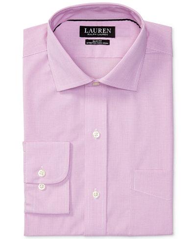 Lauren Ralph Lauren Men's Estate Slim-Fit Stretch Pink Dress Shirt ...