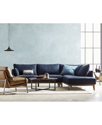 Jollene 113 Quot Fabric Sectional Collection Created For Macy