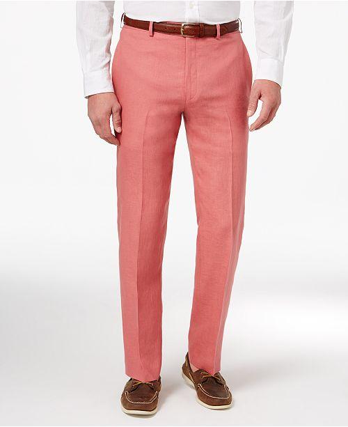 49c2f43820 ... Lauren Ralph Lauren Men s Classic-Fit Solid Linen Dress Pants ...