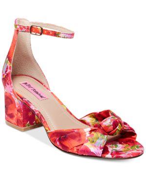 Betsey Johnson Ivee Block-Heel Sandals Women