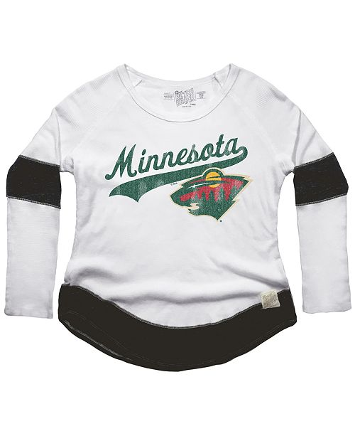 Retro Brand Women s Minnesota Wild Faceoff Thermal Long Sleeve T ... 6fcd52c4f9