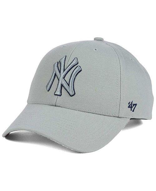 '47 Brand New York Yankees MVP Gray TC Pop Cap