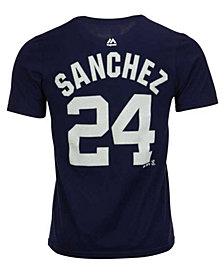 Majestic Gary Sánchez New York Yankees Official Player T-Shirt, Big Boys (8-20)