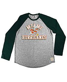 Retro Brand Miami Hurricanes Raglan Long Sleeve T-Shirt, Big Boys (8-20)