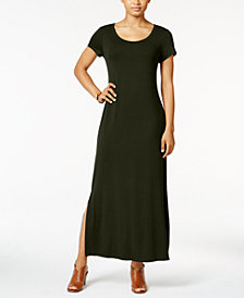 Style & Co Short-Sleeve Maxi Dress, Created for Macy's