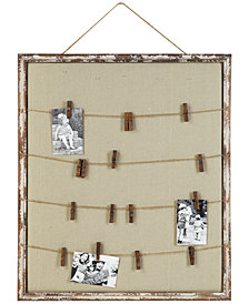 Twine-Trimmed Memo Holder with Pins