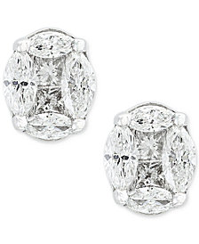Classique by EFFY® Diamond Stud Earrings (1/2 ct. t.w.) in 14k White Gold