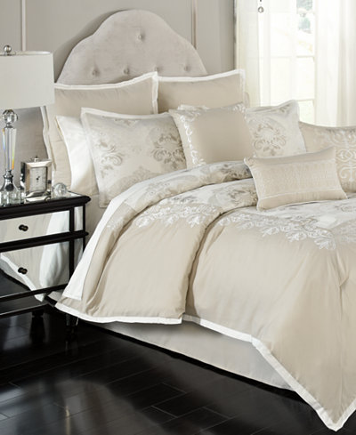 Emilia Embroidered 14-Piece Comforter Sets - Bed in a Bag - Bed ...