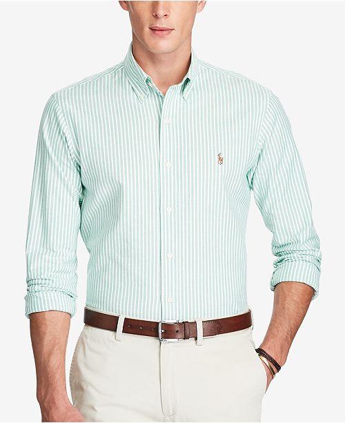 64ac0fa74c67 Polo Ralph Lauren Men's Stretch Slim-Fit Striped Oxford Shirt ...