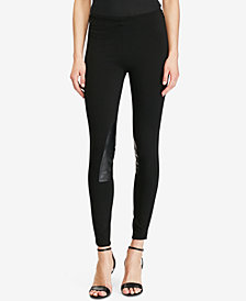 Polo Ralph Lauren Leather-Patch Leggings
