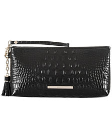 Brahmin Kayla Melbourne Embossed Leather Clutch