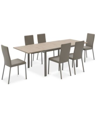 Macchiato Dining Furniture, 7 Pc. Set (Expandable Dining Table With