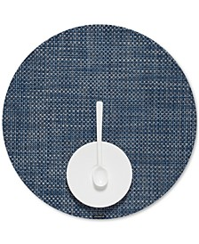 Basketweave Woven Vinyl Round Placemat