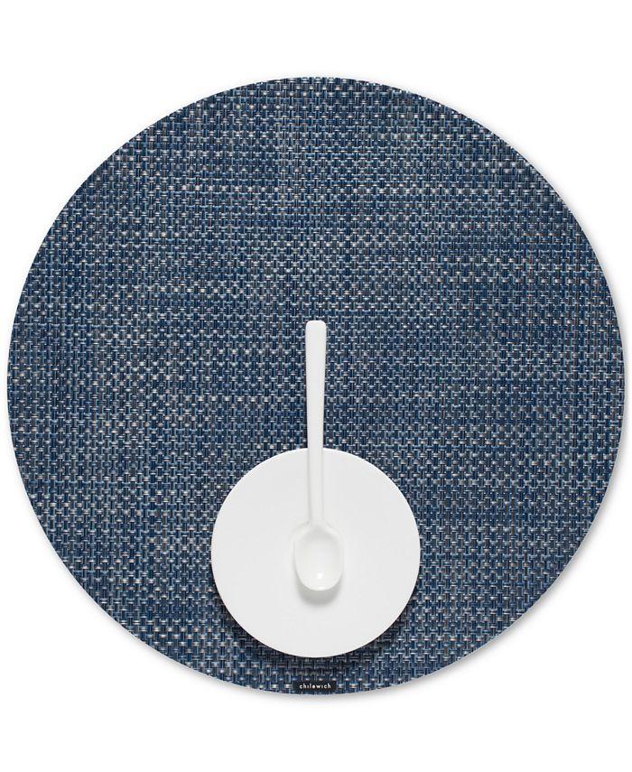 Chilewich - Basketweave Woven Vinyl Placemat, Round