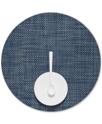chilewich basketweave woven vinyl placemat round