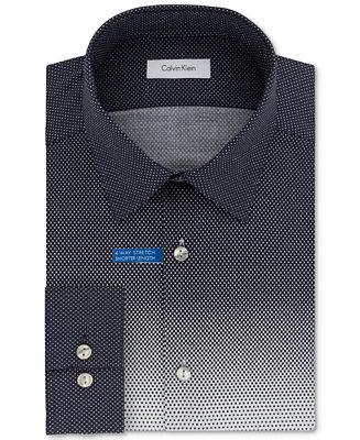 Calvin klein men 39 s slim fit infinite stretch untucked for Untucked dress shirt with tie