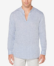 Men's Linen Chambray Popover Shirt