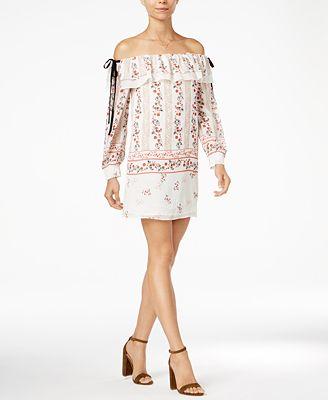 endless rose Off-The-Shoulder Flounce Dress