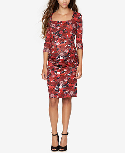 Isabella Oliver Maternity Floral Print Sheath Dress
