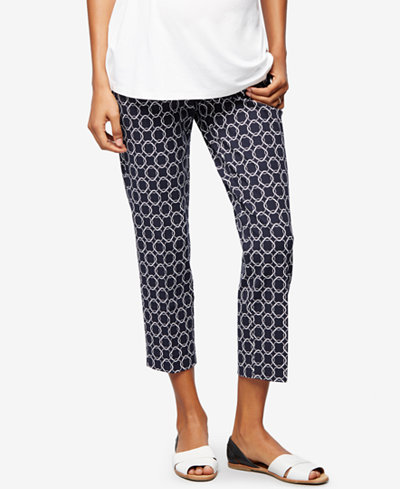 A Pea In The Pod Maternity Printed Skinny Pants