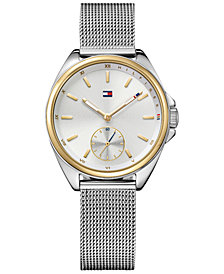 Tommy Hilfiger Women's Casual Sport Stainless Steel Mesh Bracelet Watch 36mm 1781759