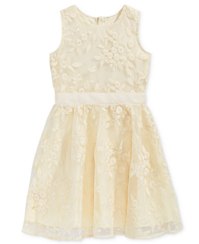 BTween Organza Embroidered Skater Dress, Little Girls (2-6X)