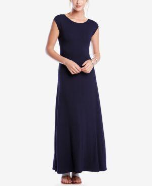 Karen Kane V-Back Cap-Sleeve Maxi Dress 2744703