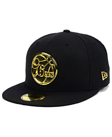 New Era Philadelphia 76ers Current O'Gold 59FIFTY Cap
