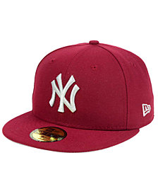 New Era New York Yankees Cardinal Gray 59FIFTY Cap
