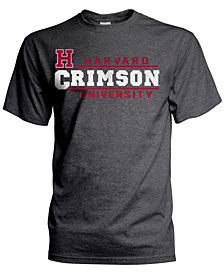 J America Men's Harvard Crimson Verbiage Stack T-Shirt