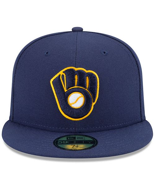 725a491c187 ... New Era Milwaukee Brewers Authentic Collection 59FIFTY Cap ...