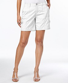 Petite Zig-Zag-Stitch Cargo Shorts, Created for Macy's