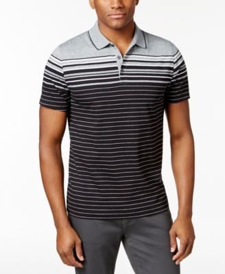 Image of Alfani Men's Stretch Engineered Striped Polo, Created for Macy's