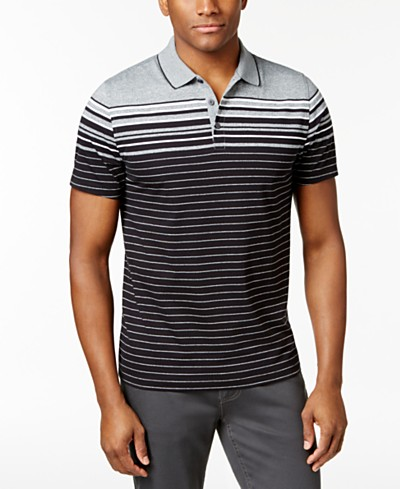 Alfani Men's Stretch Engineered Striped Polo, Created for Macy's