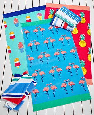 Martha Stewart Collection Cotton Beach Towels, Only at Macy's