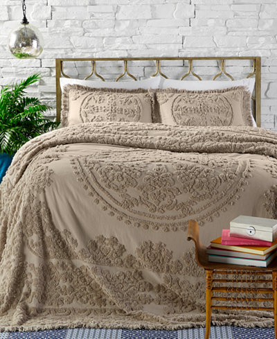 CLOSEOUT! Ravenna 100% Cotton Tufted Chenille Bedspreads and Shams