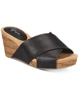 Style & Co Jillee Crisscross Slide Wedge Sandals, Created for Macy's